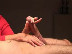 Amateur handjob is quite sensual clip