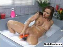 Katja kassin gets soapy in the tub movies at kilogirls.com