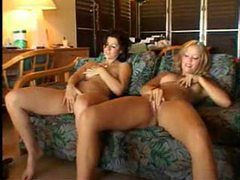Young ladies masturbate and please his cock tubes