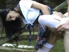 Big tits german schoolgirl having sex outdoors movies at lingerie-mania.com