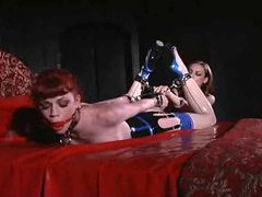 Lesbian latex fetish domination with hotties movies at lingerie-mania.com