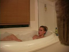 She takes a bubble bath movies