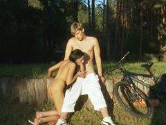 Teen sucking huge cock in the garden movies at sgirls.net