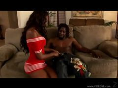 Black beauty likes sitting on his big meat videos