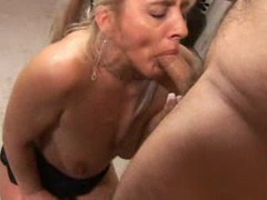 Blonde milf gives big dick a bj videos