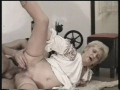 Curvy old granny in stockings has sex movies at freekilosex.com