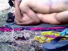 Amateurs outdoors have a lusty love scene movies at kilosex.com