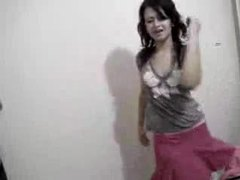 Honey in skirt dances on her webcam movies at kilosex.com
