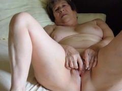 Old couple masturbates in amateur video movies at freekilosex.com