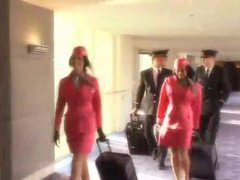 Flight attendant sucks pilot in hotel movies at nastyadult.info