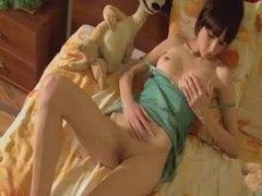 Skinny teen with big tits masturbating videos