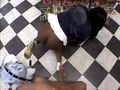 Black girl with huge ass fucked in video store movies at sgirls.net
