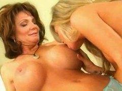 Two big tit milf pornstars have lesbian sex videos