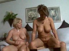 German matures have a threesome on couch movies at sgirls.net