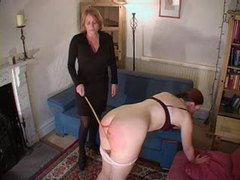 Lesbian spanking and a light caning videos