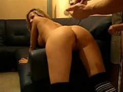 Butt fucking his hot wife on the sofa movies at kilosex.com