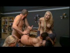 Exciting orgy scene in the classroom movies at kilogirls.com