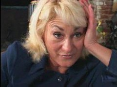 The blonde mature excites the young man videos