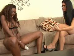 India summer and black chick have toy sex movies at sgirls.net