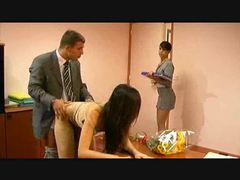 Secretary sluts love having sex with the boss movies at freekilosex.com