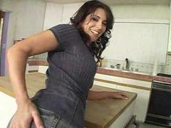 Screwing her milf pussy in the kitchen movies at freekiloporn.com