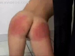 Schoolgirl gets a rough spanking in kitchen movies at dailyadult.info