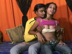 Indian couple trying out anal hardcore movies at lingerie-mania.com