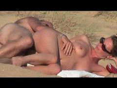 Couple fucking and fingering at the beach movies