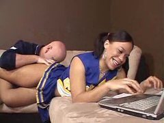Cheerleader is black and horny for cock videos