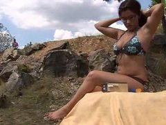 Girl with big tits has a fuck outdoors videos