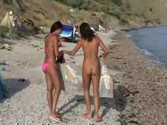 Lots of ladies naked at the beach and in water movies