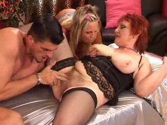 Mature redhead joined by young couple movies at find-best-pussy.com
