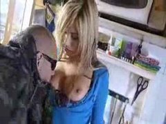 Furtive fuck in the kitchen with hot blonde movies at find-best-videos.com
