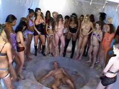 Squirt bukkake where girls cover him movies at adspics.com
