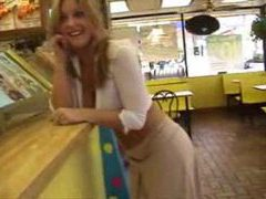 Cute blonde in public wearing almost nothing videos