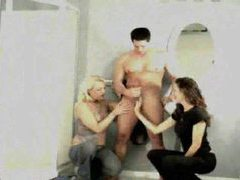 Clothed women masturbating him in bathroom movies at kilopics.net