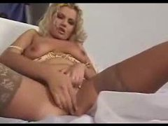 Blonde stockings mom gets off on sex movies at very-sexy.com