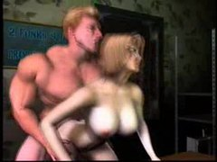 Muscular guy fucks busty 3d slut movies at find-best-lingerie.com