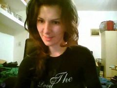 Pretty girl dances a bit on webcam clip