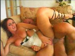 Incredible lingerie on this slut that rides dick videos
