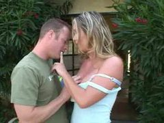 Fabulous blonde milf fucked on her back porch videos