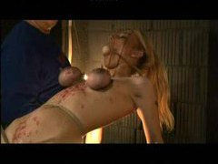 Lots of pain and suffering for blonde girl movies at kilomatures.com