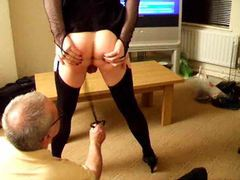 Sissy wears lingerie and gets whipped videos