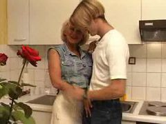 Fucking his busty aunt in the kitchen movies at find-best-ass.com