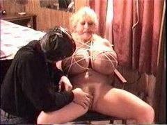 Huge tits girl in bondage is toyed videos