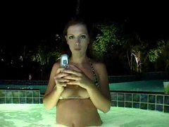 Hot tub girl makes booty call for sex movies at find-best-babes.com