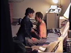 Couple getting it on on the couch clip
