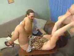 Two chubby matures in threesome with him videos