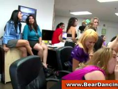 Secretaries suck male strippers at office cfnm party movies at kilosex.com