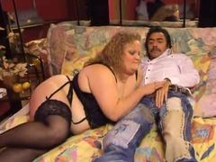 Fat german in lingerie has pussy fisted clip